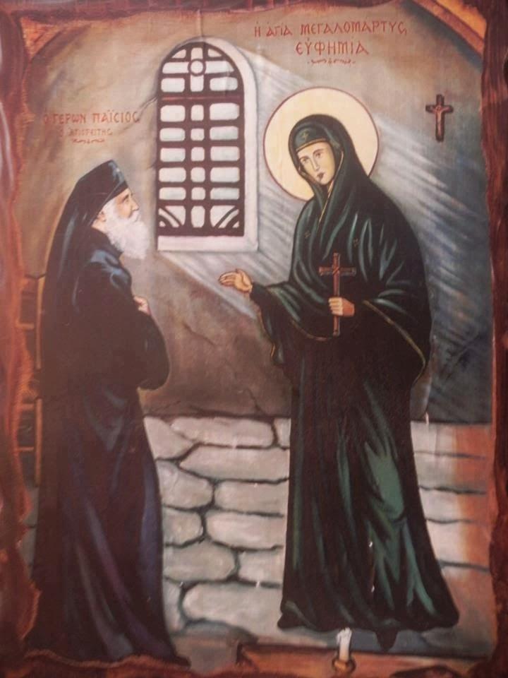 saint-Euphomia-who-prooved-monophysisum-visiting-elder-Paisios