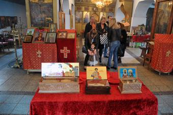 Saint Georgi (George) holy relics in Pomorie Monastery Bulgaria
