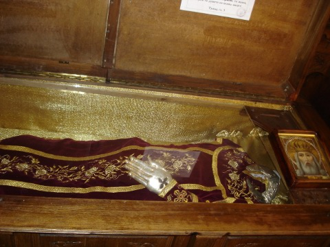 saint King Milutin holy incorruptable body relics saint Nedelia Sofia Cathedral