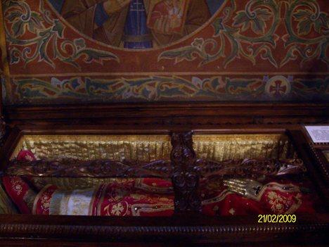 Saint Serbian King Milutin Holy relics as kept in Saint Nedelia Church Sofia Bulgaria