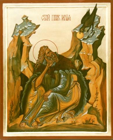 Saint prophet Alijah orthodox icon Mladost 2 / Monastery in Sofia