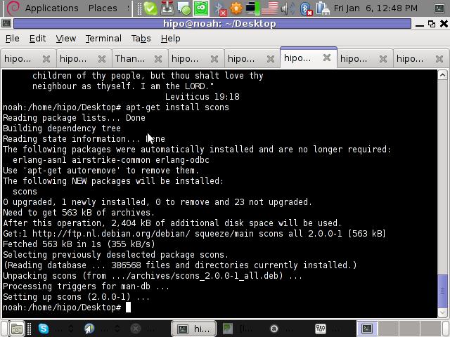 Screenshot Debian GNU / Linux Squeeze GNOME Desktop 640x480