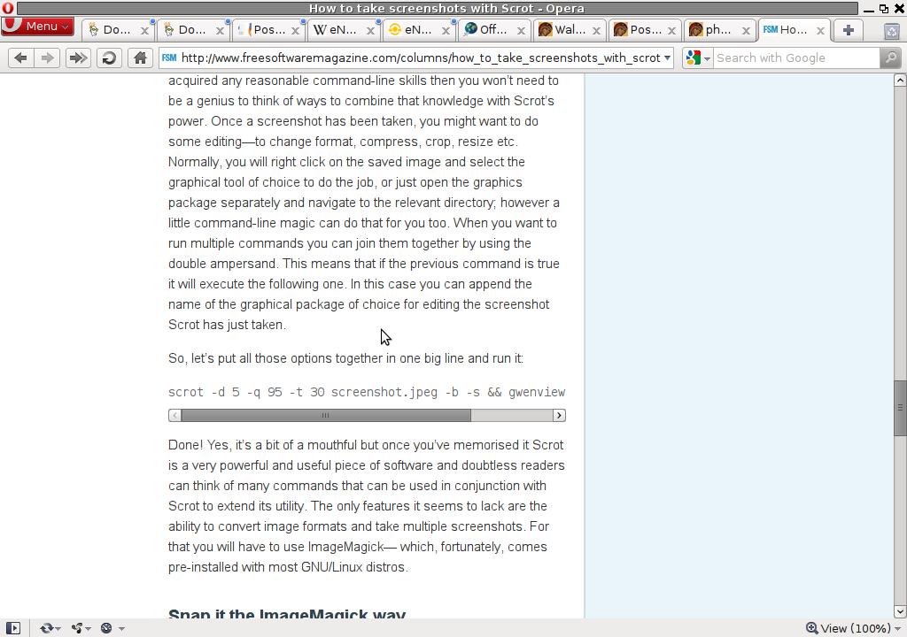 Shutter Advanced Linux Screenshot taking program