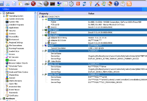 SIW Everest Hardware Detection Alternative program for MS Windows XP ScreenShot  Nvidia GeForce 6100