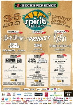 Spirit of Burgas year 2012 bands agenda for 3 days list picture