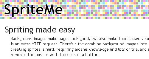 SpriteMe icon, improve website access times with spriteme