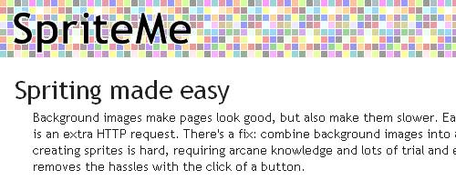 SpriteMe icon, improve website access times with spriteme