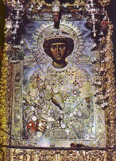 St. George Fanuilska miraculous icon Zograf Monastery