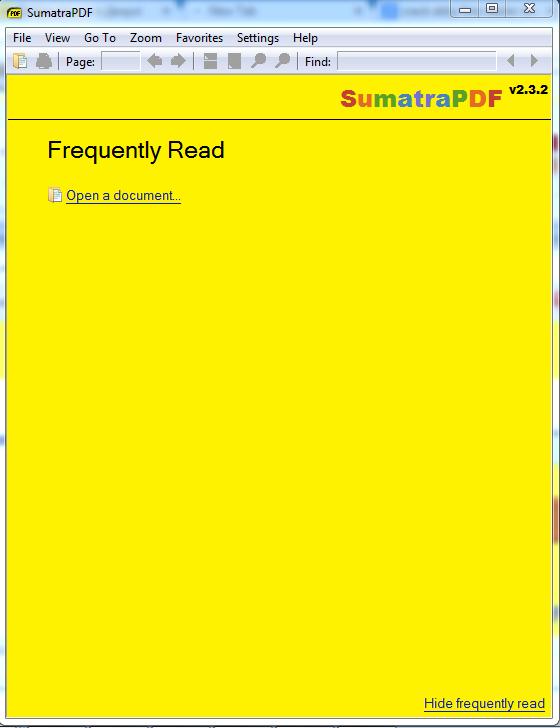 Sumatra pdf reader screenshot ms windows 7