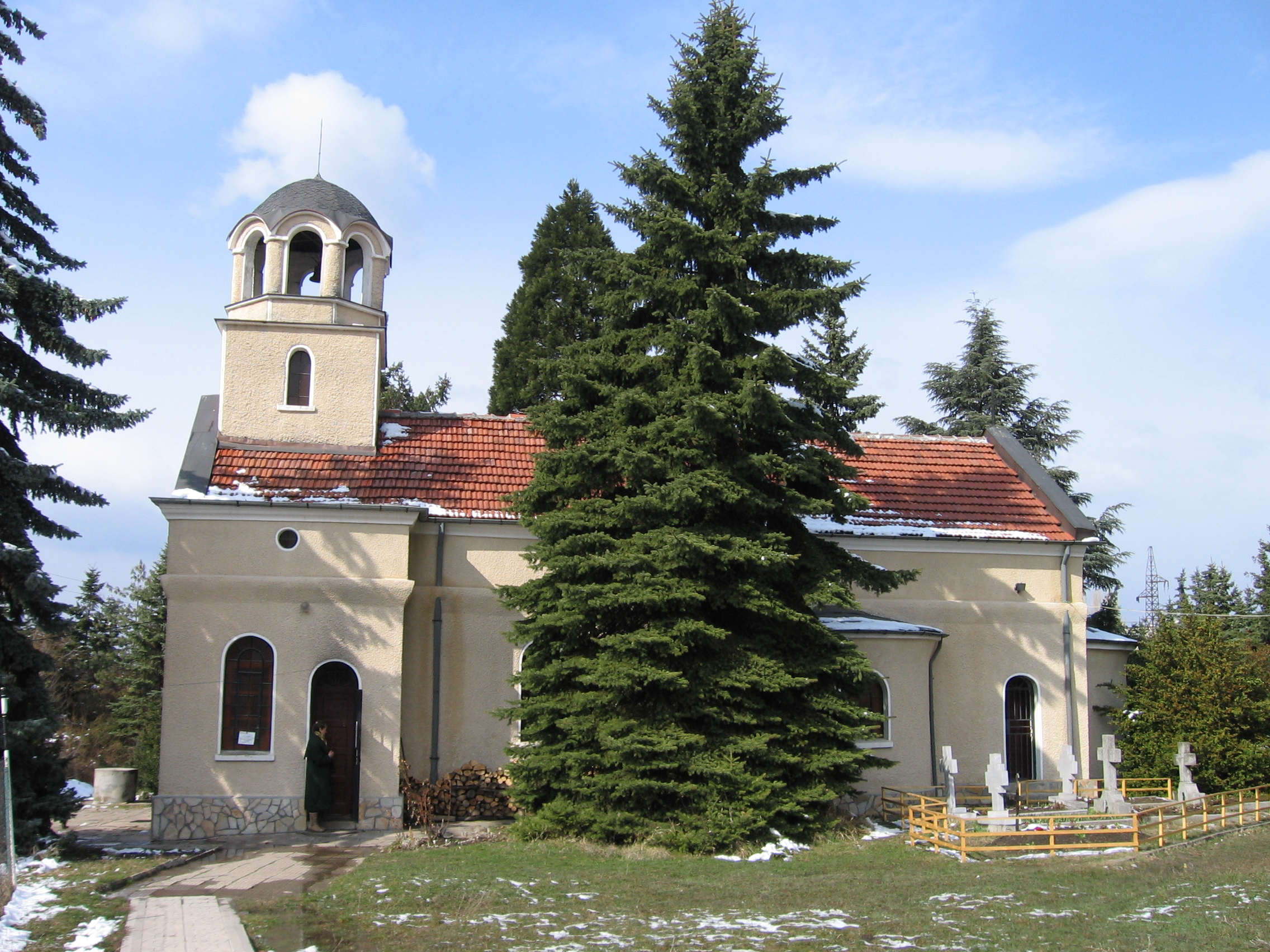 sveti Eliah monastery Church in mladost 2 suburb monastery near heart of Sofia