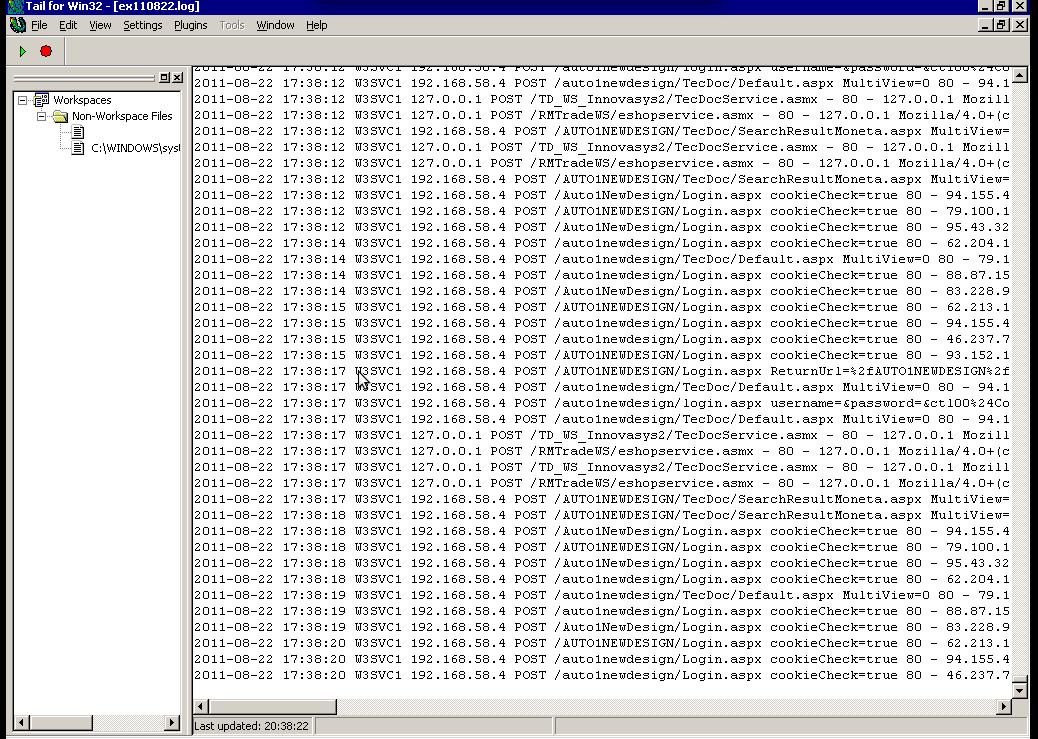 GUI Tail for Windows screenshot