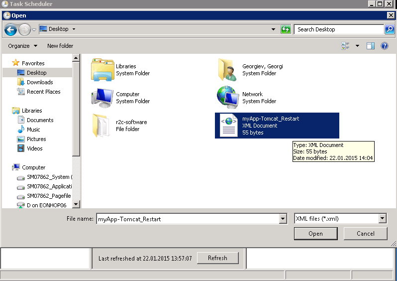 task-scheduler-import-tomcat-restart-xml-file-windows-server-2008-r2-screenshot