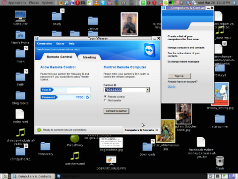 TeamViewer 7 Debian GNU / Linux released, my desktop screenshot