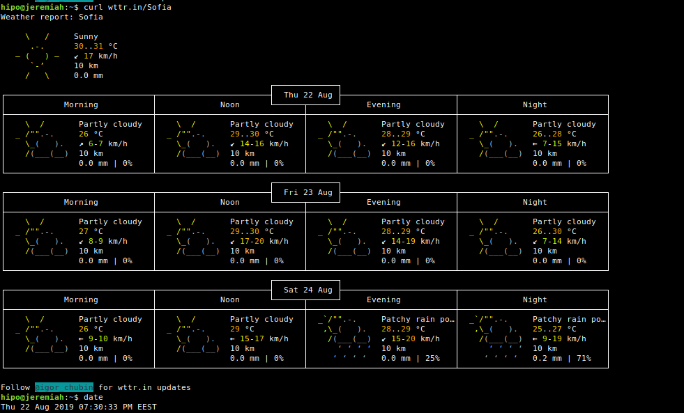 text-console-wttr.in-Weather-forecast-Sofia-for-Linux