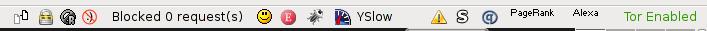 Tor Button screenshot in Iceweasel