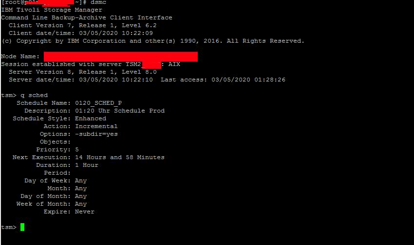 tsm-check-backup-schedule-set-time