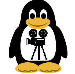 Capturing video from webcamera in Skype and Desktop on Debian Ubuntu Fedora Linux Desktop - tux director webcamera recording from skype and desktop ffmpeg