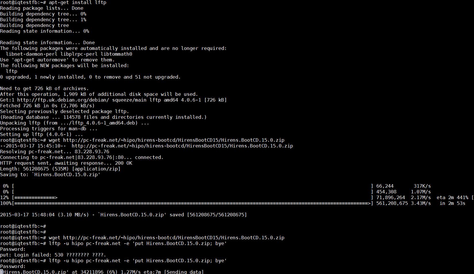 uploading-file-with-lftp-screenshot-test-upload-internet-speed-linux