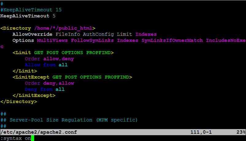 vim-syntax-highlighting-howto-syntax-on-picture-screenshot-apache-config