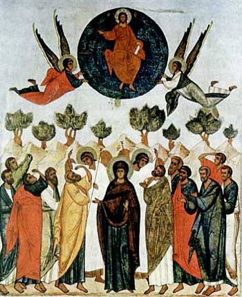 Ascension of Christ Orthodox Icon, Voznesenie Hristovo ikona, Vyznesenie Hristovo icona