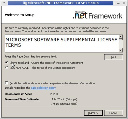 welcome to dotnet 3.5 sp1