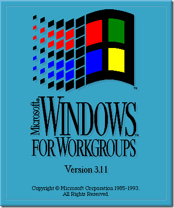 Windows 3.11 Operating system logo flag
