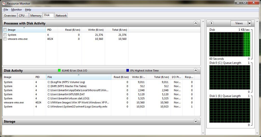 windows resource monitor disk tab hard disk show read write speed win7