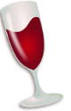 wine emulator logo install wine on Debian GNU / Linux