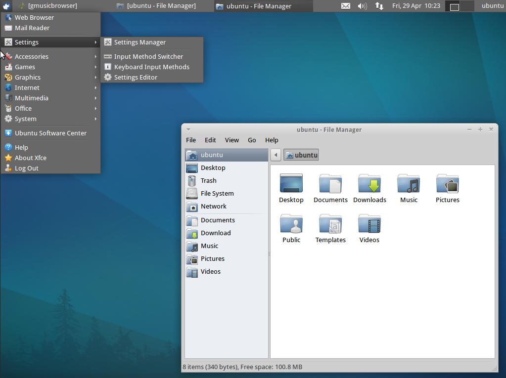 Xubuntu GNU / Linux theme
