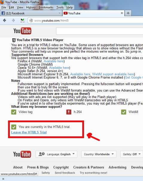 youtube change html trial set youtube to use adobe flash player screenshot pciture Windows
