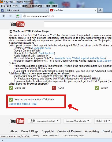 youtube change html trial set youtube to use adobe flash player screenshot pciture Windows