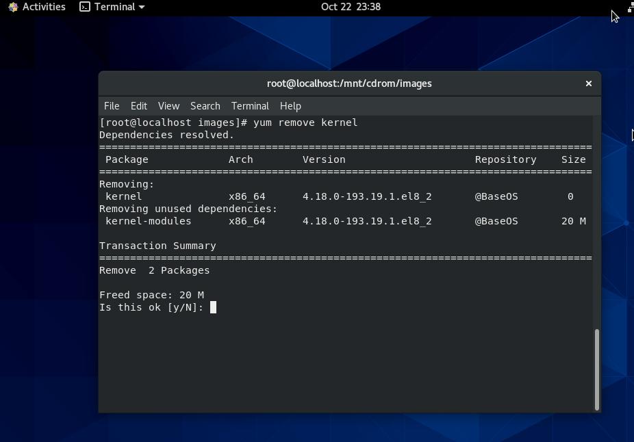 yum-kernel-remove-centos-linux