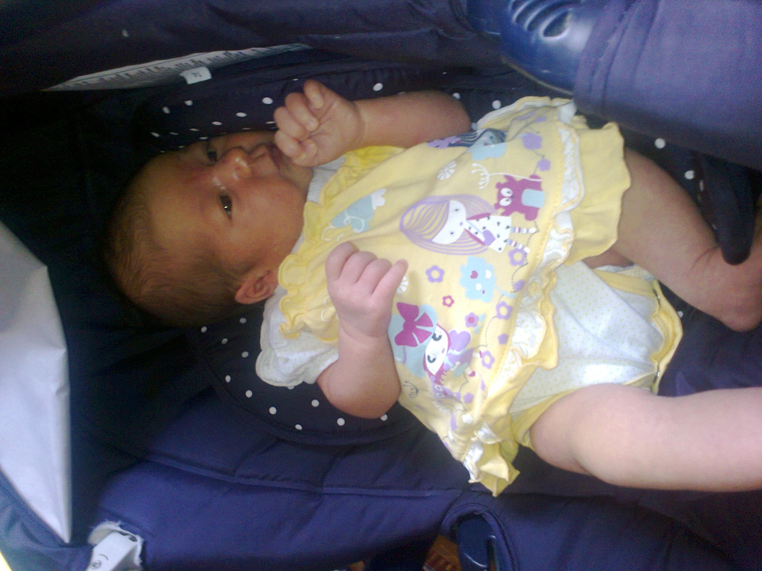 23 days old cute baby girl Boryana